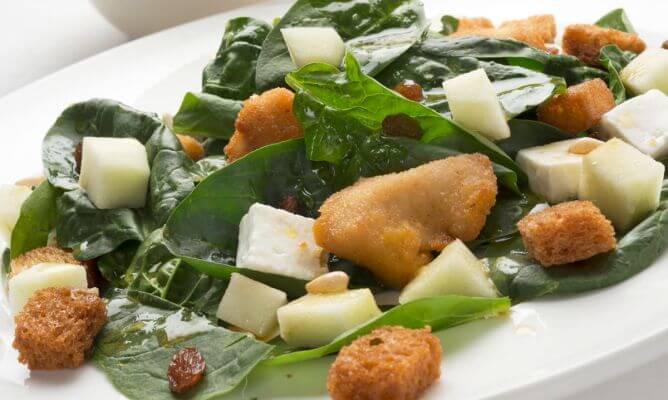 ıspanak hindi salata