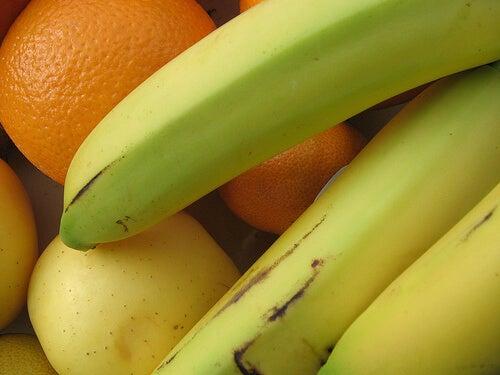muz elma ve portakal