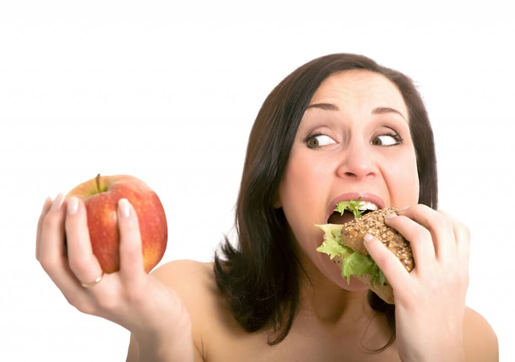 elma ve sandviç