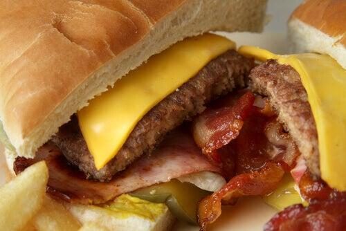 işlenmiş hazır gıdalar hamburger