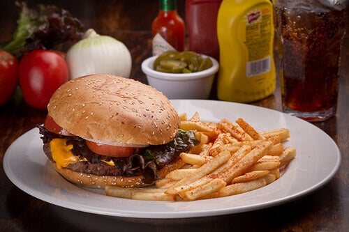 hazır gıdalar hamburger patates