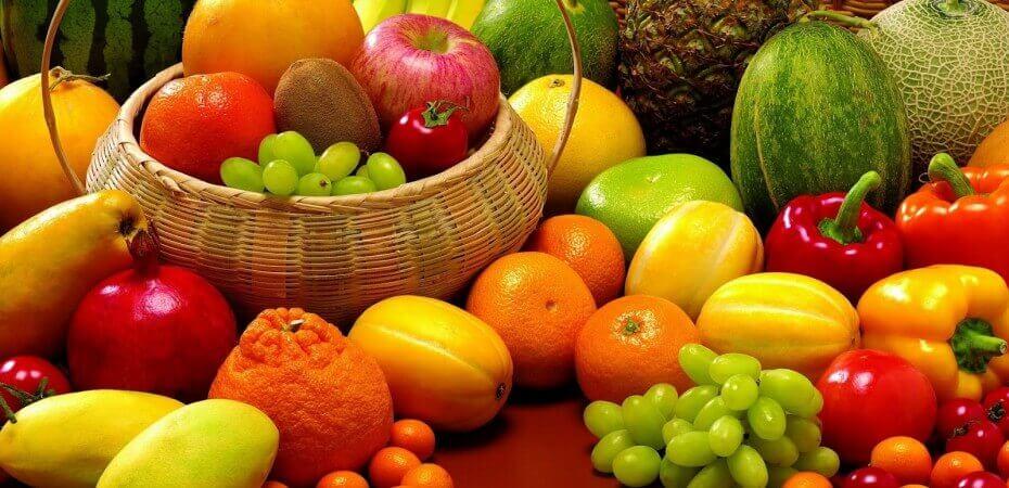 çeşitli meyve sebzeler