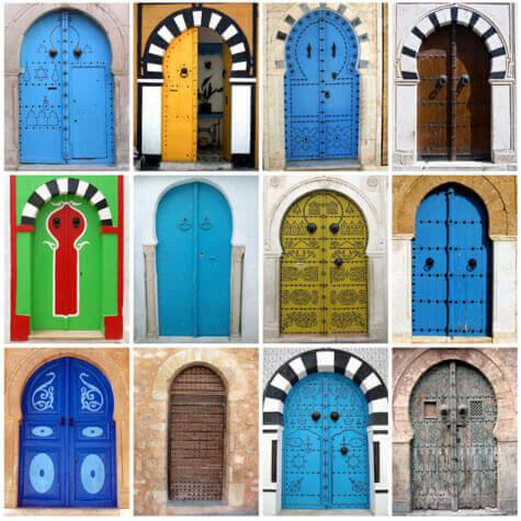 renkli kapılar
