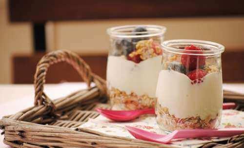 sağlıklı kahvaltı parfe