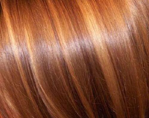 parlak saçlar