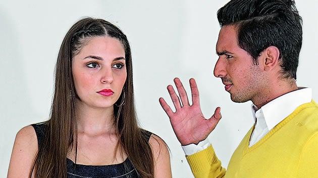 kadına el kaldıran adam