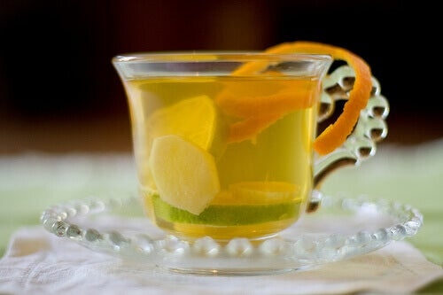 bir fincan zencefil çayı