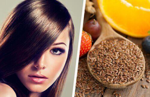 saç bakımı keten tohumu