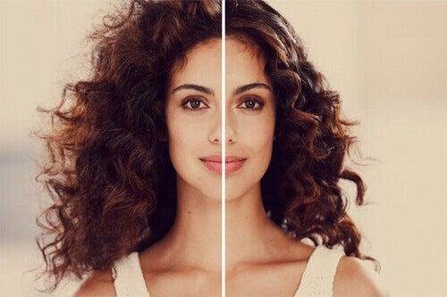 sağlıklı güzel kıvrımsız saç 1