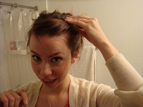topuz saç