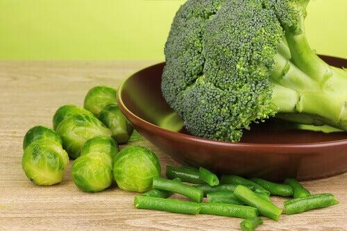 brokoli ve brüksel lahanası