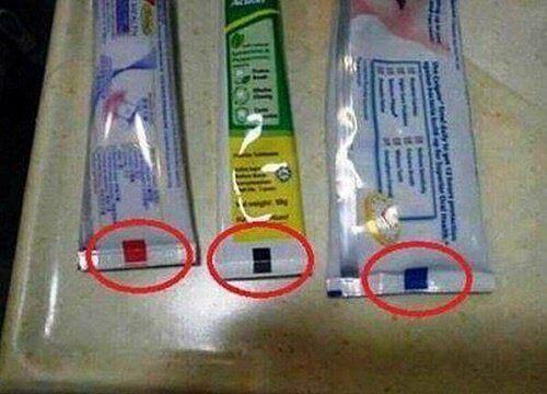 Diş Macunu Tüplerindeki Renkli Baskıların Anlamı Nedir?