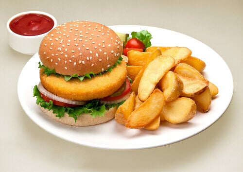 hazır gıda hamburger patates