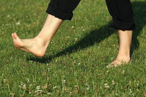 çimler üstünde yürümek