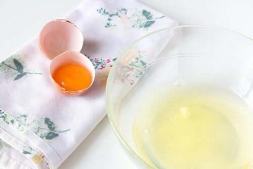 sarısıyla beyazı ayrılmış yumurtalar