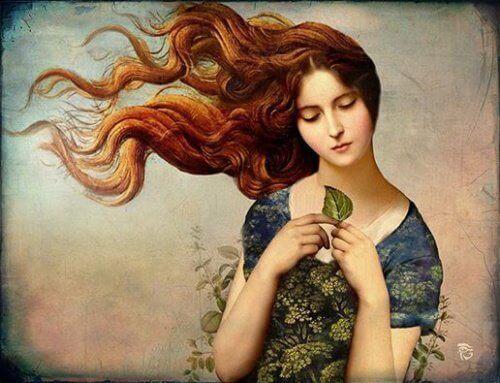 saçları uçuşan kadın