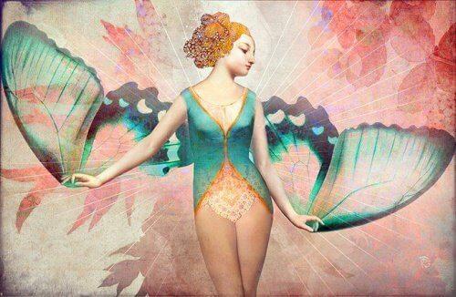 kanatları olan kadın