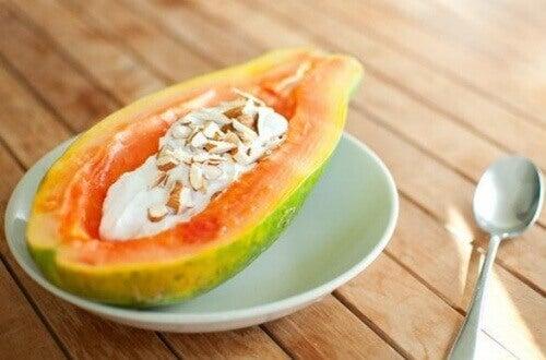 yoğurt-papaya