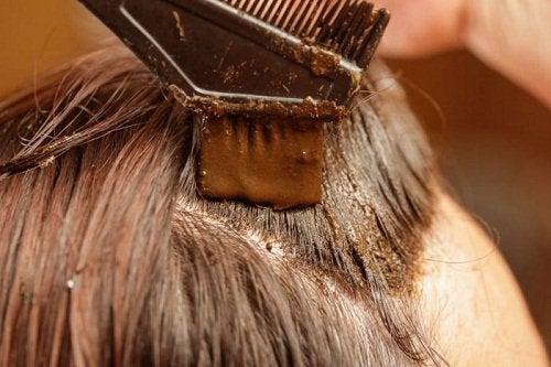 kına sürülen saç