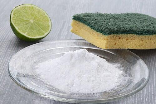 temizlenmesi zor yüzeyler için karbonat