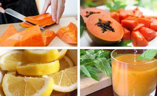 Mide Detoksu için Limon ve Papaya İçeceği