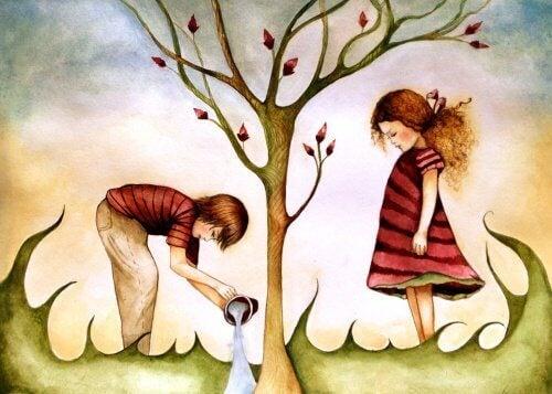 ağaç ve çocuklar