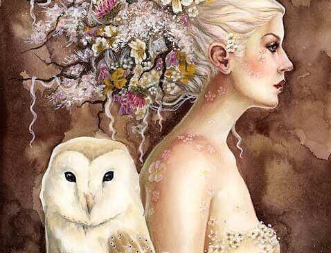 kadın ve baykuş