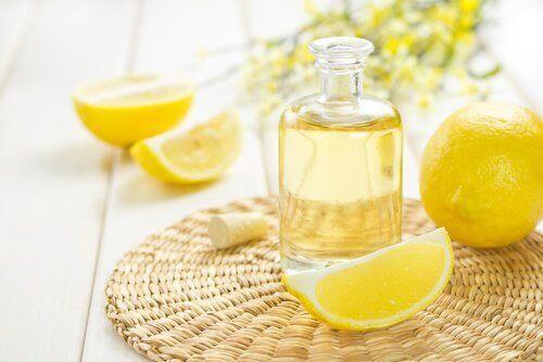 dilim limonlar ve limon yağı