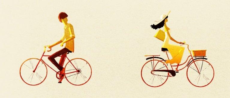 farklı yöne giden bisikletler