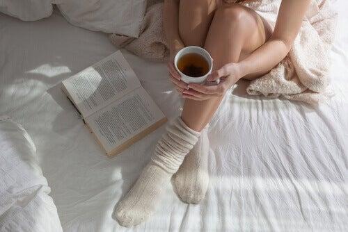 çorapla uyumak