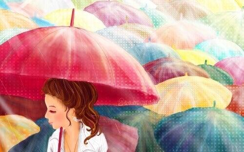 Bulutlu Günler İçin Renkli Şemsiyeler