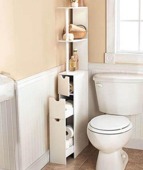 banyoda yer açmak için dar dolap
