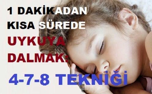 1 Dakikadan Daha Kısa Süre İçinde Uykuya Dalmak İster Misiniz?