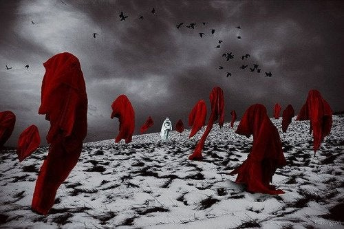 kırmızı çarşaflar karanlık