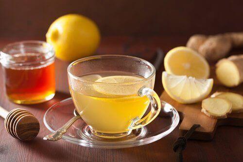 limonlu zencefilli çay