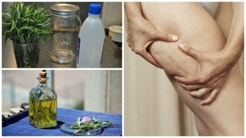 Selülit İçin Alkol ve Biberiye Tedavisi Yapımı