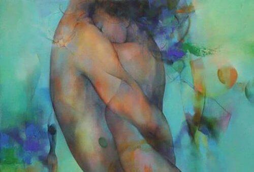 birbirine sarılmış iki kişi resim