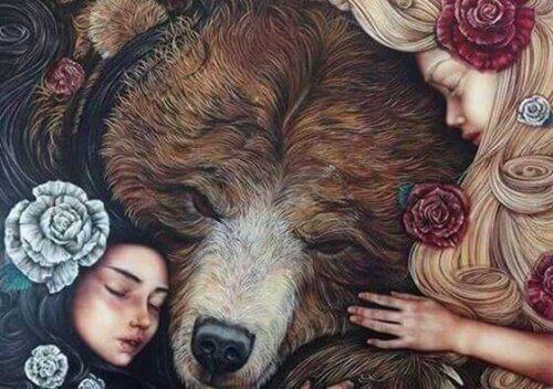 iki kardeş ve ayı