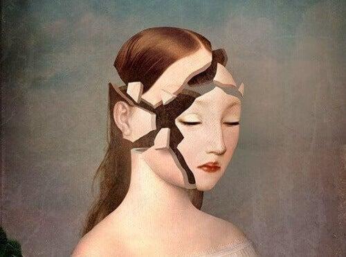 kaygıdan başı parçalanan kadın