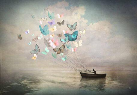 tekne ve kelebekler