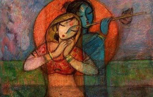 ruhunun müziğini dinleyen kadın