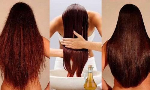 saç bakımı yapan kadın