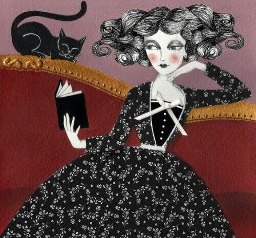 siyah-kedili-kadin