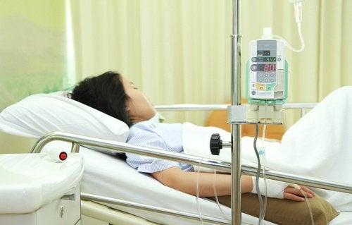 hastanede yatan kadın