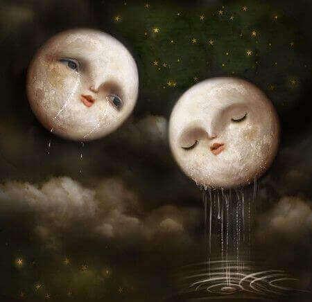 ağlayan ay çizimleri