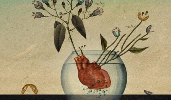 akvaryum içinde kalp
