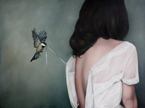 kız ve kuş