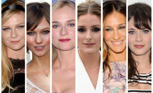 farklı yüz şekline sahip ünlüler