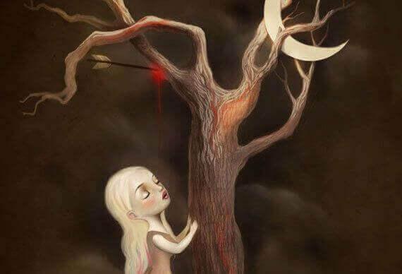 ağaç ve küçük kız
