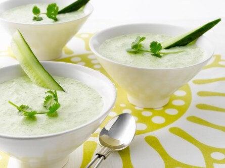 kavun ve salatalıklı smoothie